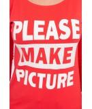 Palaidinė Take a picture of me, (Raudona)
