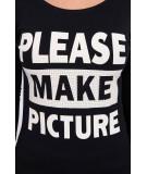 Palaidinė Take a picture of me, (Juoda)
