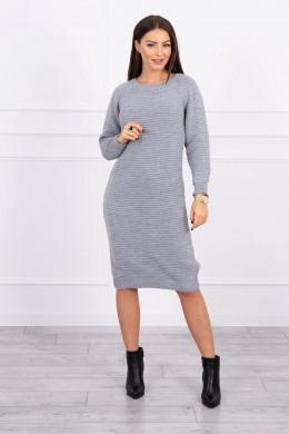 Megzta Šilta suknelė (Pilka)