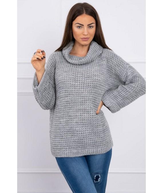 Megztinis su roll-up rankovės (Pilka)