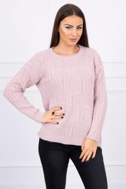 Megztinis su ilgomis rankovėmis (Šviesiai) (Rožinė)