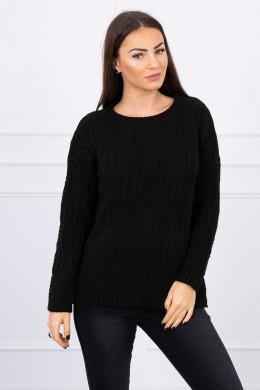 Megztinis su ilgomis rankovėmis (Juoda)
