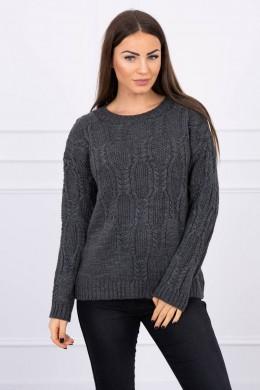 Megztinis su ilgomis rankovėmis (Grafito)
