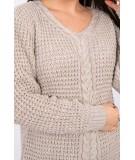 Megztinis su iškirpte papuošta su braid (Smėlio spalva)