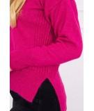 Megztinis su ilgesne nugara ir neckline V (Fuksijos)