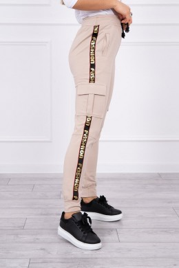 Kelnės cargo (Smėlio spalvos)