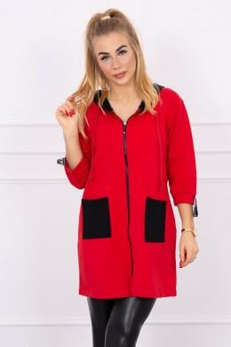 Hooded sweatshirt plus size (Raudona)