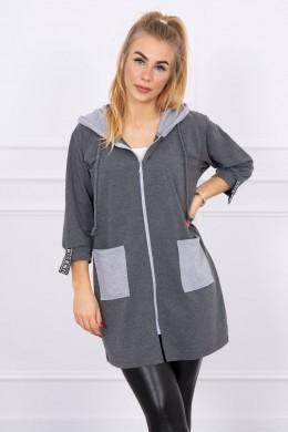 Hooded sweatshirt plus size (Grafito)