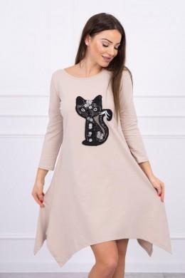 Suknelė Black Cat (Smėlio spalva)