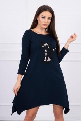 Suknelė Black Cat (Tamsiai mėlyna)
