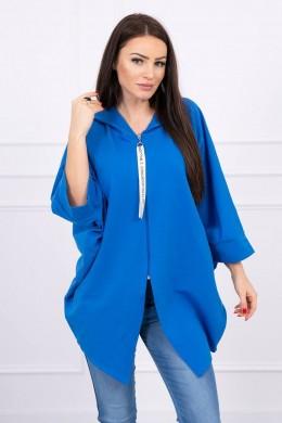 Hooded sweatshirt su batwing rankovės (Mėlyna)