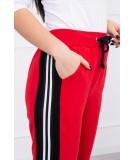 Kelnės su wide juostomis (Raudona)
