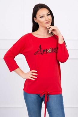Palaidinė su užrašu Amour (Raudona) S/M - L/XL