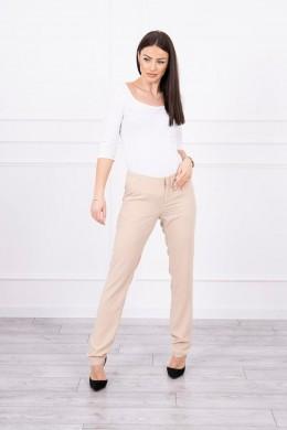 Elegant Kelnės (Smėlio spalva)