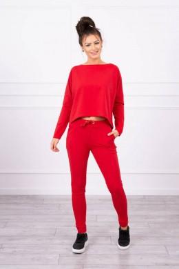Kostiumėlis su oversized palaidine (Raudona)