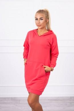 Suknelė džemperis su kišenėmis (Fuksijos)