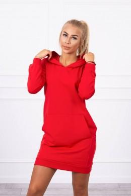 Suknelė džemperis su kišenėmis (Raudona)