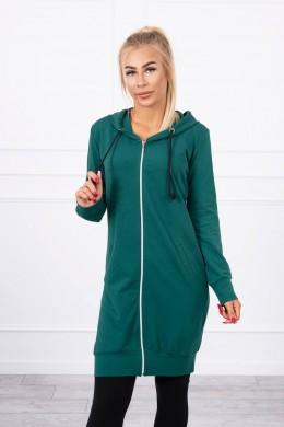 Megztinis su gobtuvu (Žalia)