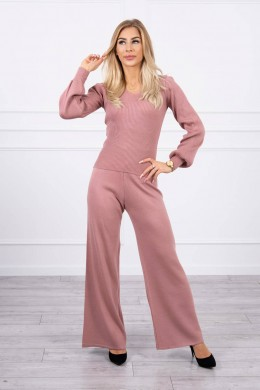 Dviejų dalių kostiumėlis su megztiniu (Tamsiai rožinė)