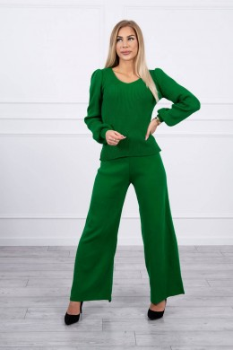 Dviejų dalių kostiumėlis su megztiniu (Žalia)