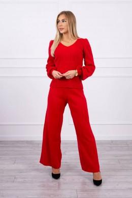 Megztas laisvalaikio kostiumėlis (Raudona)
