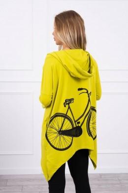 Bliuzonas su dviračio dekoracija nugaroje (Kivio spalva)