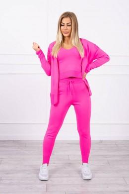 Trijų dalių laisvalaikio kostiumėlis (Neoninė rožinė)