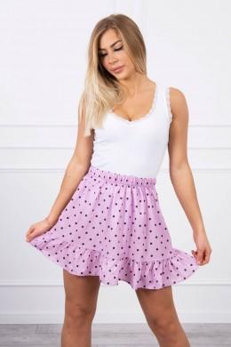 Taškuotas sijonas (Violetinė)