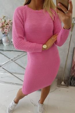 Megzta Šilta suknelė (Rožinė)