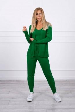Trijų dalių laisvalaikio kostiumėlis (Žalia)