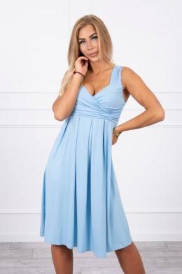 Suknelė su plačiomis petnešėlėmis (Mėlyna)