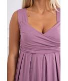 Suknelė su plačiomis petnešėlėmis (Rožinė)