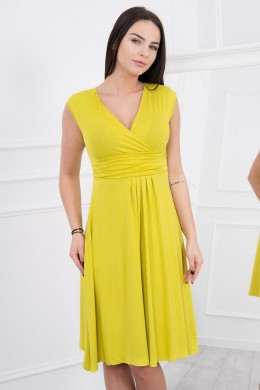 Suknelė su pūsta apačia (Kivio spalva)