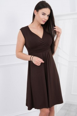 Suknelė su pūsta apačia (Ruda)
