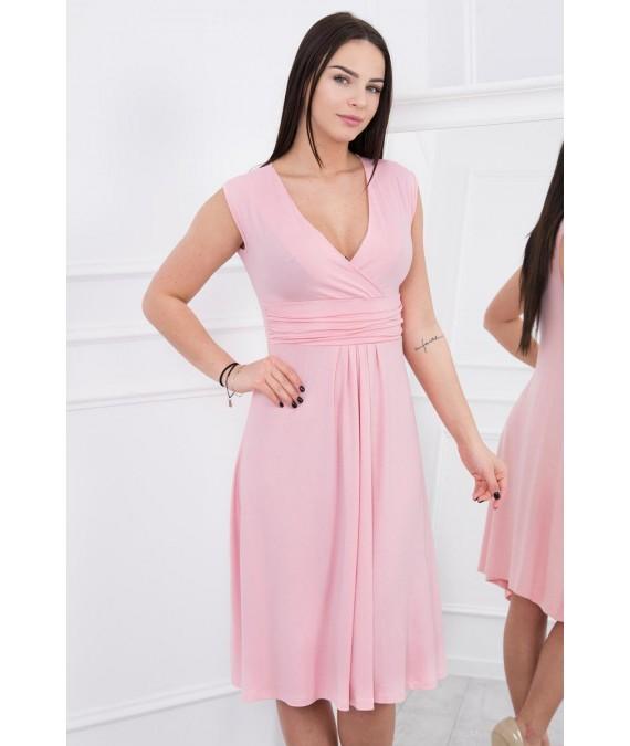Suknelė su pūsta apačia (Šviesi) (Rožinė)