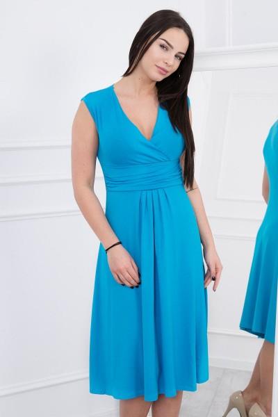 Suknelė su pūsta apačia (Turkio spalva)