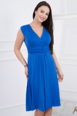Suknelė su pūsta apačia (Mėlyna)