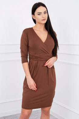 Suknelė su iškirpte (Ruda)