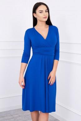 Suknelė su iškirpte, 3/4 rankovės (Mėlyna) (Rugiagėlių spalva)