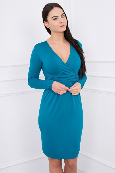 Suknelė su iškirpte (Jūros spalva)