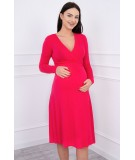Suknelė su lengvai aptemta zona po krūtine (Fuksijos)