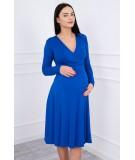 Suknelė su lengvai aptemta zona po krūtine Blue (Rugiagėlių spalva)