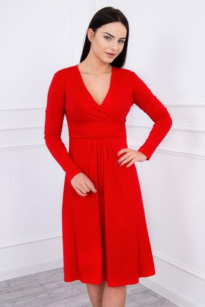 Suknelė su lengvai aptemta zona po krūtine (Raudona)