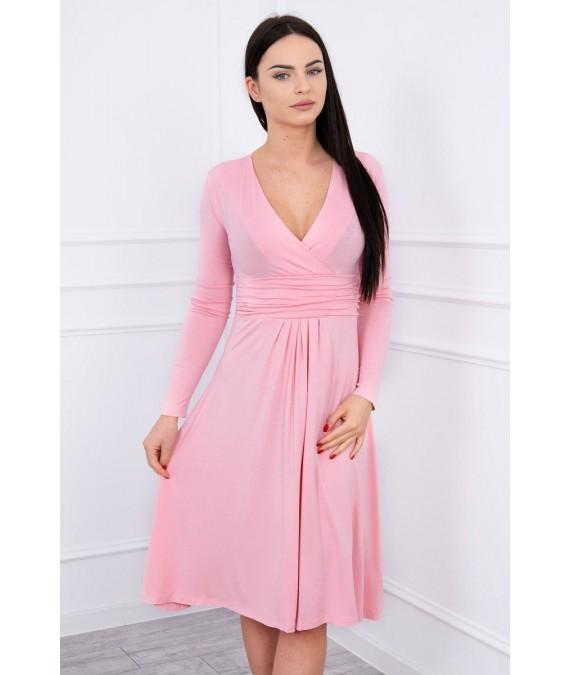 Suknelė su lengvai aptemta zona po krūtine (Šviesi)
