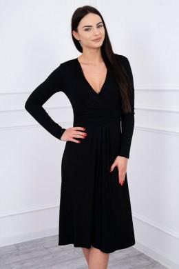 Suknelė su lengvai aptemta zona po krūtine (Juoda)