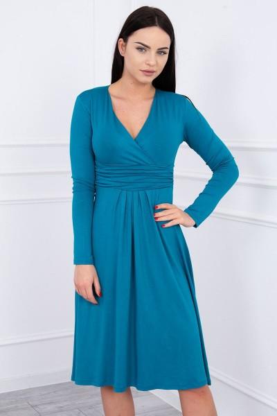 Suknelė su lengvai aptemta zona po krūtine (Mėlyna)