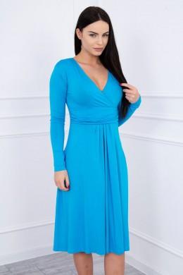 Suknelė su lengvai aptemta zona po krūtine (Turkio spalva)