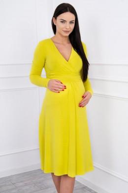 Suknelė su lengvai aptemta zona po krūtine (Kivio spalva)