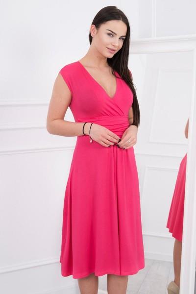 Suknelė su pūsta apačia (Fuksijos)