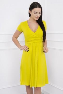 Suknelė su lengvai aptemta zona po krūtine, trumpomis rankovėmis (Kivio spalva)